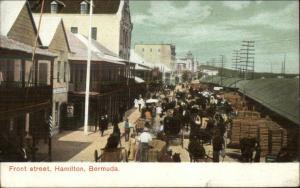 Bermuda Front Street in Hamilton c1910 Postcard