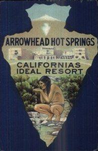 Arrowhead Hot Springs CA Resort Native American Indian Arrow Border PC