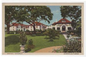 Hotel Thomas Gainesville Florida linen postcard