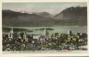 canada, VANCOUVER, B.C., Aerial View showing Brockton Point and City (1950s)