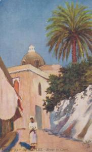 The Bay Of Naples Tucks Oilette Street In Capri Antique Postcard