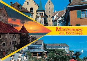 Meersburg am Bodensee Schloss Castle Sunset Lake General view