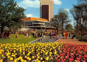 Hamburg IGA 73 Tulips Flowers Congress Centrum Hamburg Plaza Postcard