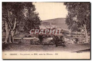 Old Postcard Grasse general view to the south between the Olives