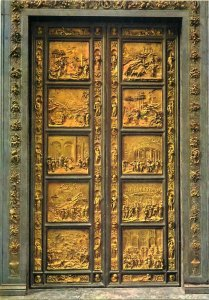 Italy Florence the baptistery gate of paradise postcard