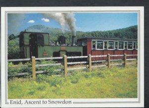 Railway Postcard - Snowdon Mountain Railway, Enid, Ascent To Snowdon  T8533