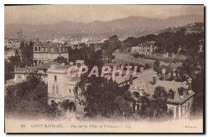 Postcard Old Saint Raphael overlooking the Villas and Valeseure
