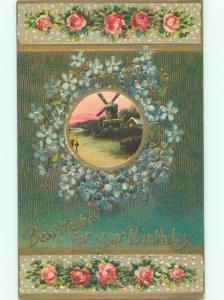 Divided-Back BEAUTIFUL FLOWERS SCENE Great Postcard AA3750
