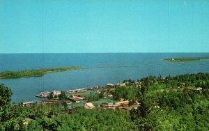 Copper Harbor, MI, from Brockway Drive, 1969 Chrome Vintage Postcard g8919