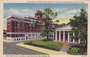 Maryland Baltimore University Of Maryland School Of Medicine administration B...