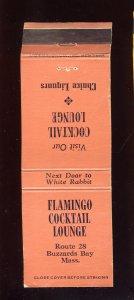 Flamingo Cocktail Lounge Match Cover/Matchbook, Buzzard Bay, MA/Mass, Cape Cod