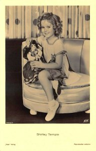 Shirley Temple With Doll Fox Real Photo Postcard Firenze 125