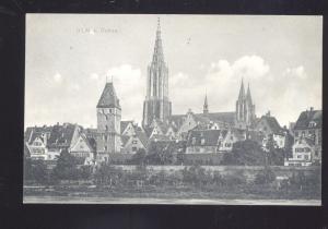 ULM A DONAU GERMANY 1911 ANTIQUE VINTAGE POSTCARD STUTTGART