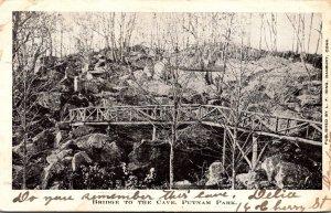Connecticut Danbury Putnam Park Bridge To The Cave 1906