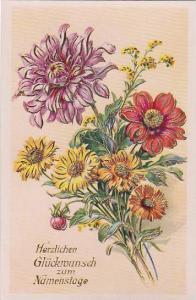 Flower bouquet Birthday greetings , 1910s #1
