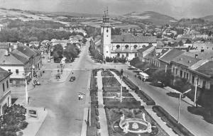 Romania Vedere din Odorhei, Eglise Church Street Car Auto Air view Statues