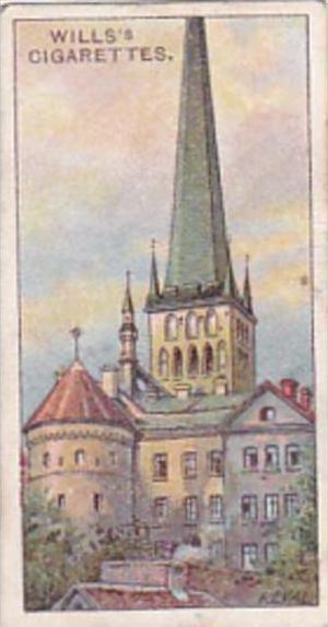 Wills Cigarette Card Russian Architecture No 34 St Olai Church Reval