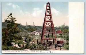 Postcard PA Kane In The Heart of Oil Country Oil Derricks Pre 1908 View N9