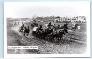 1950s Calgary Stampede Chuckwagon Chuck Wagon Race Real Photo Postcard C20