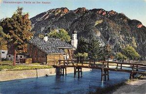 Religious Postcard Oberammergau Partie an der Ammer Unused