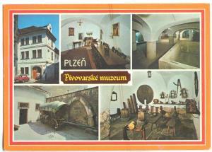 Czech Republic, PLZEN, Pivovarske muzeum, 1979 used Postcard
