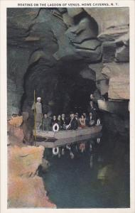 NEW YORK, 1900-1910's; Boating On The Lagoon Of Venus, Howe Caverns