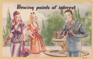 AS: Sexist Quotes: CHET, Man with binoculars and two voluptuous women, 30-40s