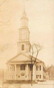 Springfield MA First Church Congregational Real Photo Postcard
