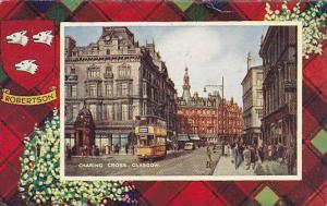 Street View, Double-Decker Bus, Charing Cross, Glasgow, Scotland, UK, 1910-1920s