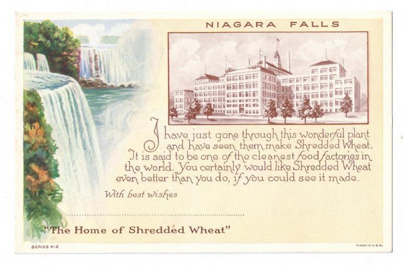 Niagara Falls Home of Shredded Wheat Advertising ca 1925