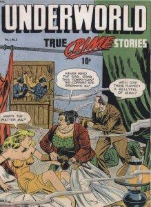 Underworld True Crime 1950s Comic Book Siege Tommy Gun Postcard