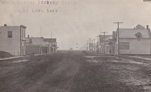 RP: Main Street , Looking South , QUILL LAKE , Saskatchewan , Canada , PU-1915