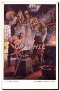 Old Postcard Blacksmith