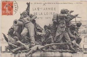 Bas-Relief de la Statue du General Chanzy, Le Mans, Sarthe, France