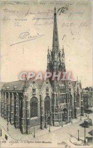 Postcard Old Lille L Eglise Saint Maurice