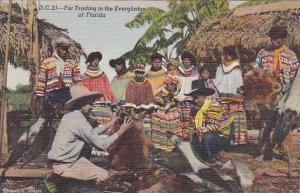 Florida Seminole Indians Fur Trading In The Everglades Curteich