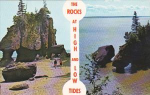 Canada New Brunswick Hopewell Cape The Rock At high And Low Tides