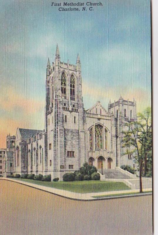 North Carolina Charlotte First Methodist Church 1953 Curteich