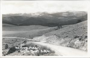 McAvoy Pass, Eagle Nest, New Mexico, Early Real Photo Postcard, Unused