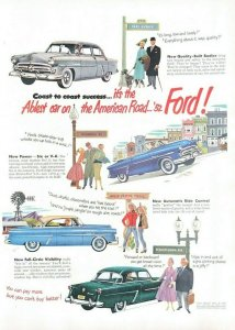 1952 Ford Automobile Vintage Print Ad Coast To Coast Success The Ablest Car