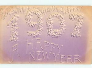 Pre-Linen New Year EMBOSSED BIG NUMBERS AB2366