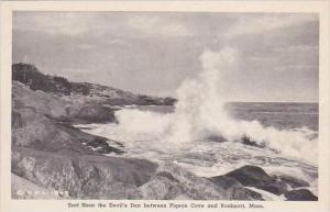 Massachusetts Rockport Surf Near Devils Den Albertype