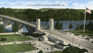 IN - Vincennes, Lincoln Memorial Bridge (Opened 1933)