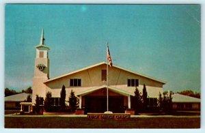 HEMET, California CA ~ FIRST BAPTIST CHURCH  1975  Riverside County  Postcard