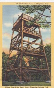 Tennessee, 30-40s; Observation Tower on Clingman's Dome