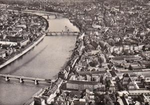 Switzerland Basel Panorama mit drei Rheinbruecken Photo