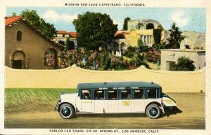 CA - San Juan Capistrano. Parlor Car Tours