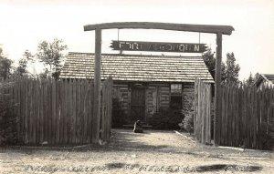 LPM55 St Ignace Fort Algonquin   Michigan RPPC Postcard