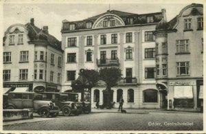 denmark, ODDER, Centralhotellet, Hotel, Car (1940s) Postcard