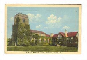 St Mary's Church , WALKERVILLE, Ontario, Canada PU-1941